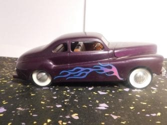 1940's Fat Fendered Lead Sled Model Car