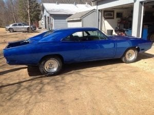 1970 Dodge Charger RT HEMI at body shop