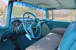 55 Chevy Bel Air Sport Coupe interior